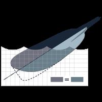 Ассиметричная форма лопатки