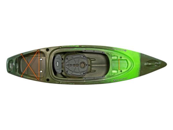 Каяк для отдыха и рыбалки Perception Sound 9.5
